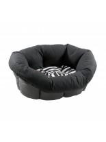 Ferplast - SOFA 2 CHECK BLU - пластмасово легло с дюшече за куче или котка  - 49х36х17см