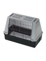 Ferplast - ATLAS CAR MINI  GREY - транспортна клетка за кола за куче или котка  - 72x41x51 см.