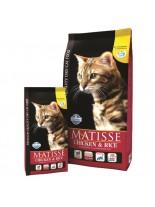 Matisse Chichen&Rice 32/11 - пълноценна, суха, гранулирана храна за котки над 1 година с пиле и ориз- 20 кг