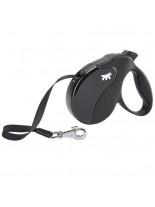 Ferplast - AMIGO M TAPE BLACK-BLACK - автоматичен повод за кучета лента 5 м./ до 25 кг.