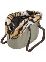 Ferplast - WITH-ME BAG WINTER BLACK - чанта за  домашни любимци с мека част - черна, розова, бежава -  21,5x43,5x27 h см.