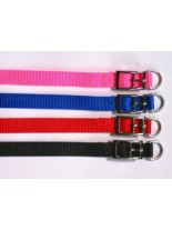 Миазоо - Нашийник от изкуствена лента - червен, син, черен или розош - 15 мм. - 40 см.
