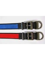Миазоо - Нашийник от изкуствена лента двуцветен черно/червено или черно/синъо - 20 мм. - 45 см.