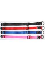 Миазоо - Нашийник Спорт + регулируем - изкуствена лента - 10 мм. на 20-35 см. - червен, син, розош или черен