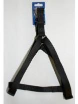 Миазоо - Нагръдник от текстилна лента за едри кучета 30 мм., 50-75 см. - черен