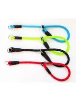 Миазоо - Ексклузив - нашийник въже със светлоотразителни нишки - 12 мм. - 70 см.  (червен, син, черен, зелен)