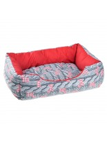 Ferplast Coccolo 50 - меко легло от плат за домашни любимци - (сиво или червено-сиво) - 55х45х20 см.