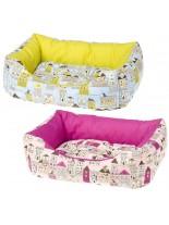 Ferplast - COCCOLO 60 - здраво и меко легло за домашни любимци - 55х45х20 см. - жълто/циклама