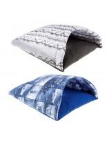 Ferplast Babbet - мека памучна къщичка за домашни любимци - 38х38х36 см. - сива, синя