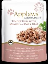 Applaws Tuna Wholemeat with Salmon in Jelly - високо качествен пауч за котки с риба тон и сьомга в желе - 70 гр.