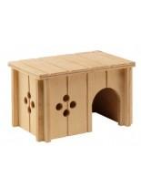 Ferplast - SIN 4642 - дървена къщичка за гризачи - 14,5 x 9,5 x h 8,5 см.