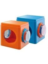 Ferplast - FRI 4836 CUBE - пластмасова къщичка за хамстери оранжева - 12,5 x 9,5 x h 10,5 см.