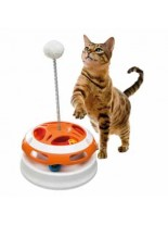 Ferplast - VERTIGO - играчка за котки - въртележка с пружина - 24 x 36,5 см.