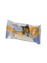 Ferplast - GENICO FRESH dog/cat talk (x 40) - почистващи кърпички за кучета и котки с аромат на талк 40 бр. в пакет - 30x20 см.