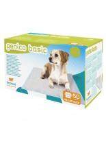 Ferplast - GENICO BASIC - абсорбиращи подложки (пелени) със самозалепваща се за пода лента за бебета и за възрастни кучета - 50 бр. в кашон 60x60 см.