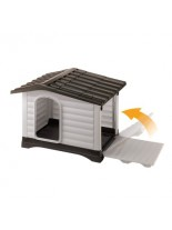 Ferplast Plastic kennel with patented opening system Dogvilla 70 - пластмасова къща за куче -  73 x 59 x h 53 см