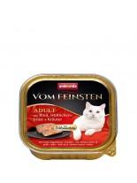 Animonda Vom Feinsten  2 in 1 - нова форма на удоволствие за котки над 1 година - фин пастет + говеждо + пилешки гърди с билки - 100 гр.