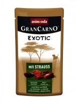 Gran Carno Exotic - високо качествен пауч за кучета с  парченца щтраусово месо - 125 гр.