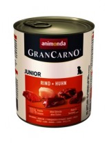 Gran Carno Original Junior - Rind + Huhn- високо качествена храна за подрастващи кученца От Animonda Германия с говеждо и пиле - 0.400 кг.