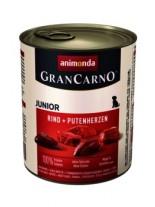 Gran Carno Original Junior - Rind + Putenherzen- високо качествена храна за подрастващи кученца От Animonda Германия с говеждо и сърца - 0.400 кг.