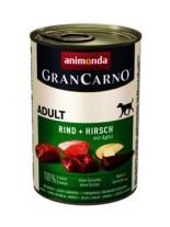 Gran Carno Original Adult - Rind + Hirsch + apfel - Високо качествени консерва за кучета над 1 год. От Animonda Германия с еленово месо + ябълки - 0.400 кг.