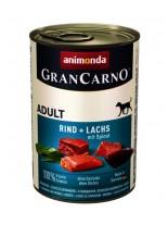 Gran Carno Original Adult Rind + Lachs + Spinat - Високо качествени консерва за кучета над 1 год. От Animonda Германия с морска треска + спанак - 0.800 кг.