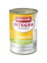 Integra Protect Sensitive БЕЗ ЗЪРНО - за чувствителни и алергични кучета - пуйка и пъщърнак - 0.400 кг.