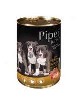 Piper Junior - Премиум консервирана храна за малки кученца до 1 година с пилешки воденички и кафяв ориз - 400 гр.