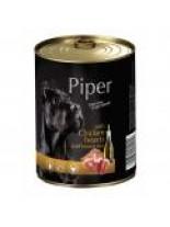 Piper - Премиум консервирана храна за кучета с пилешки сърца и кафяв ориз - 400 гр.