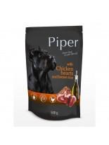 Piper with chicken hearts and rice - Премиум консервирана храна за кучета - пауч пилешки сърца и кафяв ориз - 150 гр.