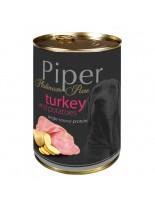 Piper - Премиум консервирана храна за кучета с пуйка и картофи - 400 гр.