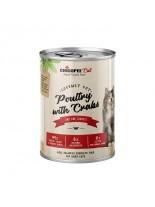 Chicopee Poultry with Crabs - високо качествена консерва за котки с птиче месо и месо от раци - 400 гр.