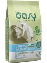 Oasy Puppy & Junior Medium - високо качествена суха храна, подходяща за подрастващи кучета от средните породи до 1 година с пилешко месо - 12 кг.