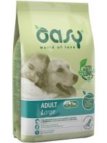 Oasy Adult Large - високо качествена суха храна, подходяща за кучета от едрите породи над 1 година с над 20% пилешко месо - 12 кг.