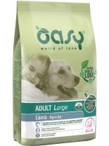 Oasy Adult Large Lamb - високо качествена суха храна, подходяща за кучета от едрите породи над 1 година с над 20% агнешко месо - 12 кг.