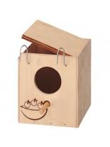 Ferplast - NIDO NEST MINI - малка дървена къща за птици - 17 x 19,7 x h 27 см.