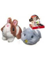 Camon - Играчка за куче - Зайчета и мишки - 8 см. - бяла или кафява