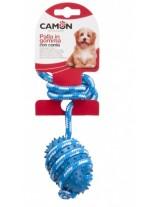 Camon - Играчка за куче - гумена топка с въже - 35 см.