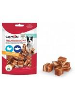Camon - Treats&Snacks - Меки, неустоми хапки за кучета във формата на кубчета с пилешко месо и риба - 80 гр.