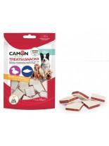 Camon - Treats&Snacks - Меки, неустоми хапки за кучета във формата на сандвич с патешко месо и риба - 80 гр.