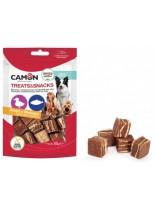Camon - Treats&Snacks - Меки, неустоми хапки за кучета във формата на кубчета с патешко месо и риба - 80 гр.