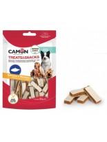 Camon - Treats&Snacks - Меки, неустоми хапки за кучета във формата на сандвич със сьомга и треска - 80 гр.