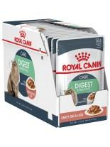Royal Canin pouch Digest Sensitive - пауч за котки над 1 година с чувствителна храносмилателна система (тънки късчета в сос) - 85 гр.