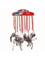 Camon - Играчка за коте Луда мишка - от естествена заешка кожа - различни цветове