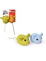 CAMON - играчка мини мишки за котка  7 см. - плетена 2 бр.