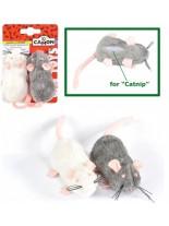 Camon - Играчка плюшена мишка за коте - 8 см.