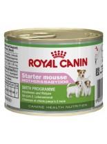 Royal Canin Starter Mousse – пастет за отбити кученца до 2 месеа, както и за бременни и кърмещи кучета от дребните породи - 195 гр.