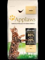 Applaws Chicken Adult Cat - пълноценна храна за израстнали котки над 12 месечна възраст с пилешко месо - 0.400 кг.