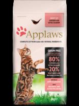 Applaws Adult Chicken with Extra Salmon - пълноценна храна за израстнали котки над 12 месечна възраст с пилешко месо и сьомга - 0.400 кг.