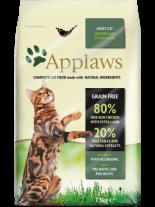 Applaws Adult Chicken with Extra Lamb - пълноценна храна за израстнали котки над 12 месечна възраст с пилешко и агнешко месо - 0.400 кг.